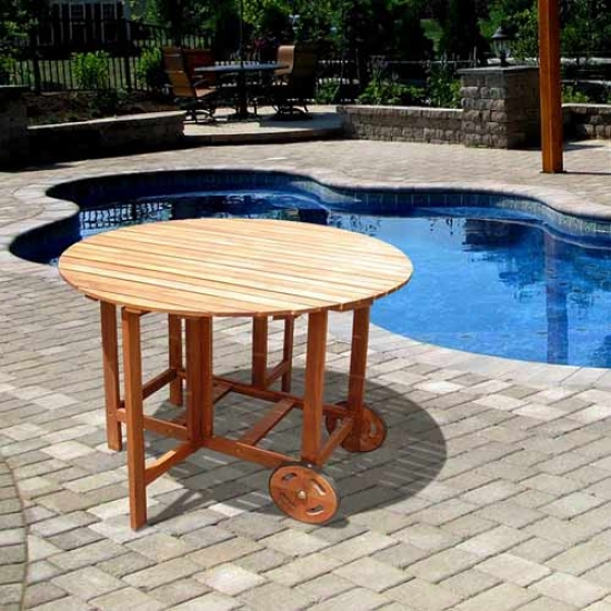 Vifah Boris Outdoor Wood Round Table