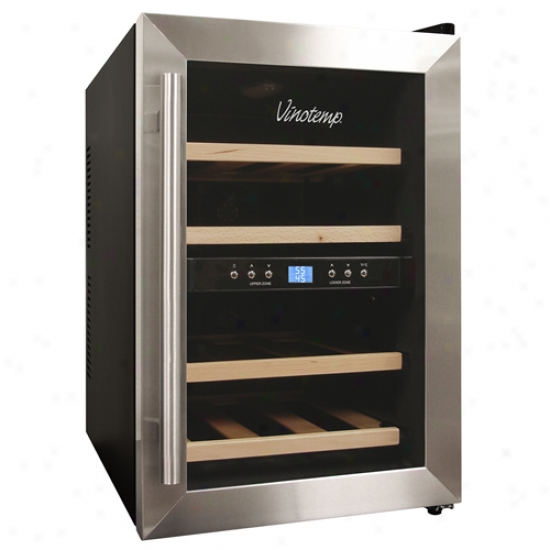 Vinotemp 12 Bottle Dual Zone Wine Cooler