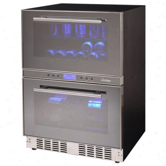 Vinotemp 12 Blttle/24 Can Dual Zone Drawer Cooler
