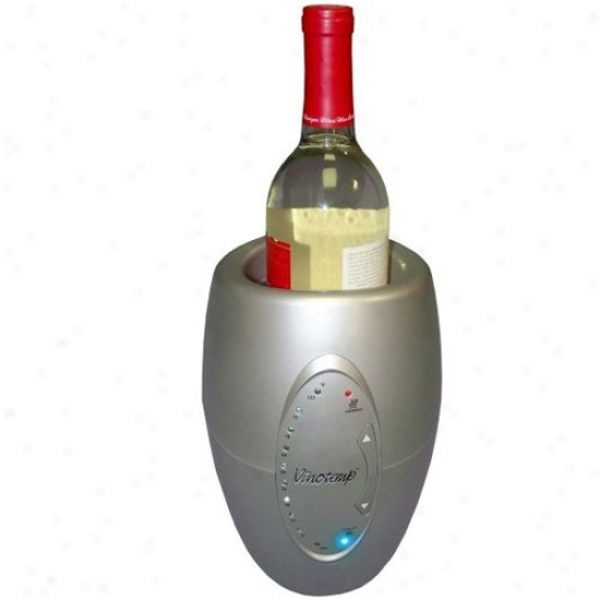 Vinotemp Silver One Bottle Chiller/warmer