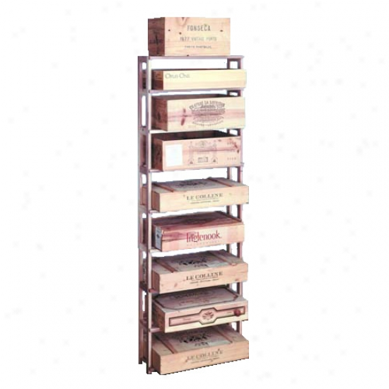 Wine Cellar Innovations 108 Bottle Wood Case Rack - Redwood
