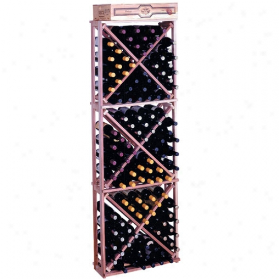 Wine Cellar Innovations 132 Bottle Diamond Cube Rack - Redwood