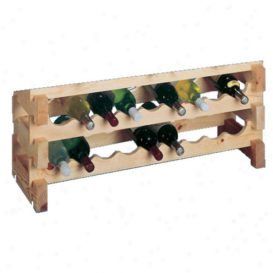 Wine Celar Innovations 18 Bottle Scallop Rack - Country Pine