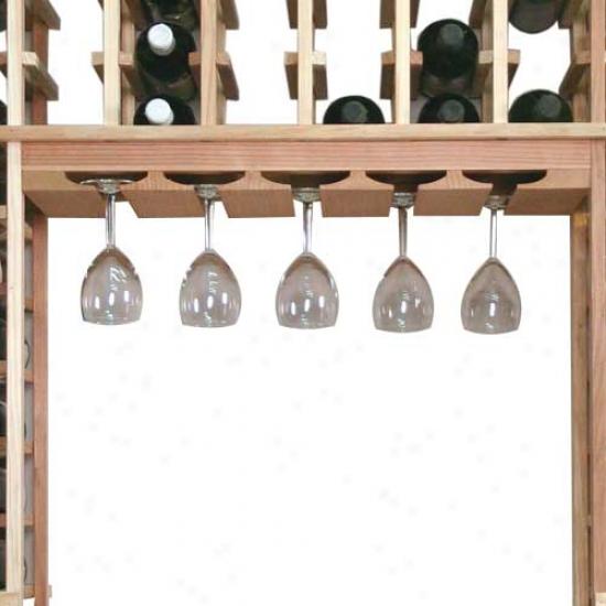 Wine Cellar Innovations 18 Glass Rack - Redwood