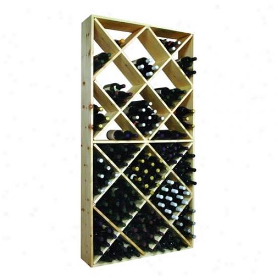 Wine Cellar Innovations 208 Solid Diamond Bin Rack - Country Pine