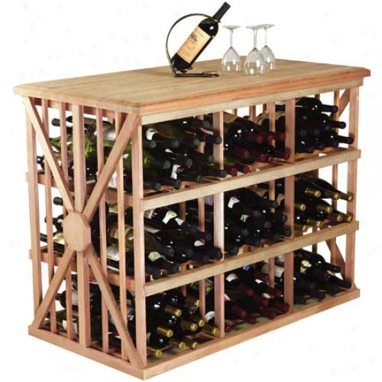 Wine Cellar Innovations 216 Bin Bottle Tasting Table