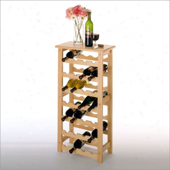 Winsome 28 Bottle Wine Rak - Beech