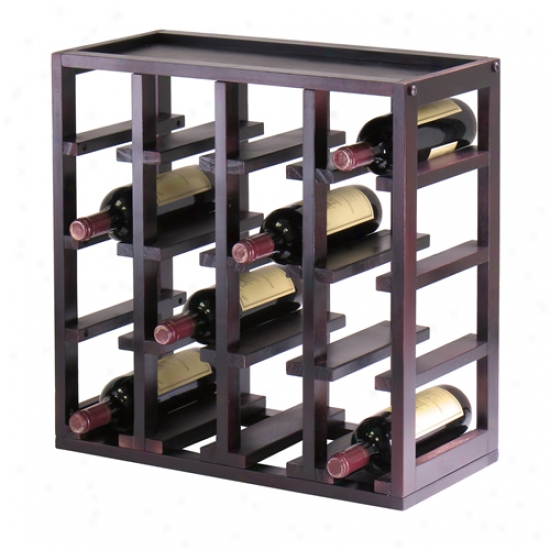 Winsome Kingston 16 Bottle Wine Cubby