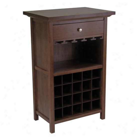 Winsome Wine Cabinet W/ Drawer And Rack
