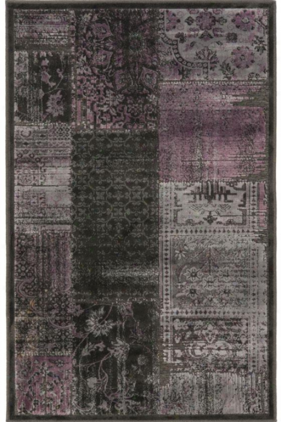 """addison Area Rug - 4'x5'7"""", Charcoal/violet"""