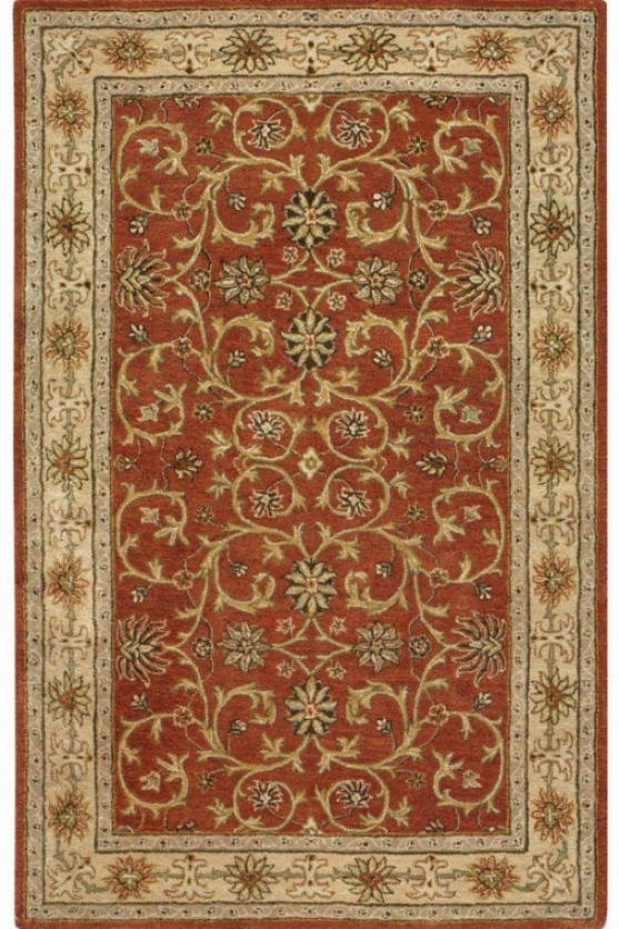 """antoinette Collection Sussex Area Rug - 7'6""""x9'6"""", Rust/sand"""