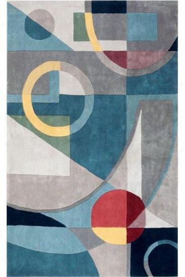Art Deco Area Wool Rug