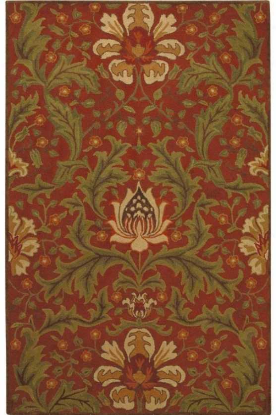 """ashbee Area Rug - 2'6""""x10' Runner, Red"""