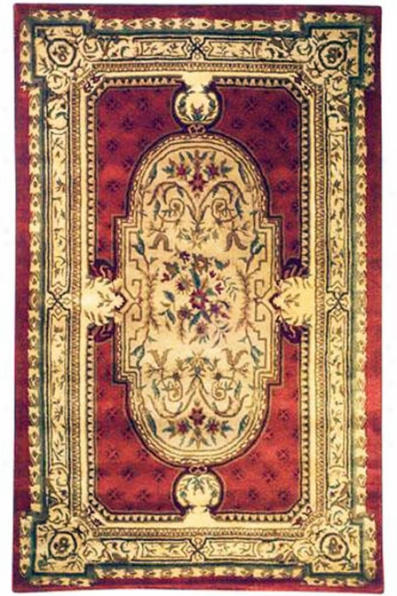 """aubusson I Area Rug - 9'6""""x13'6"""", Red"""