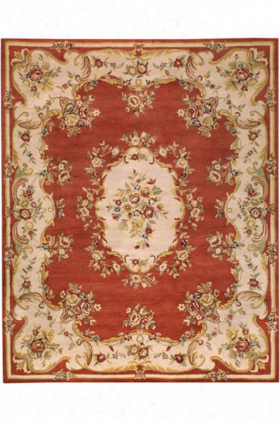 Avril Rug - 4'x6', Coral/dk Ivory