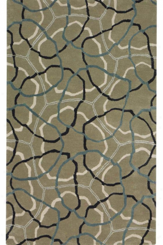 Bands Area Rug I - 8'x11', Gray