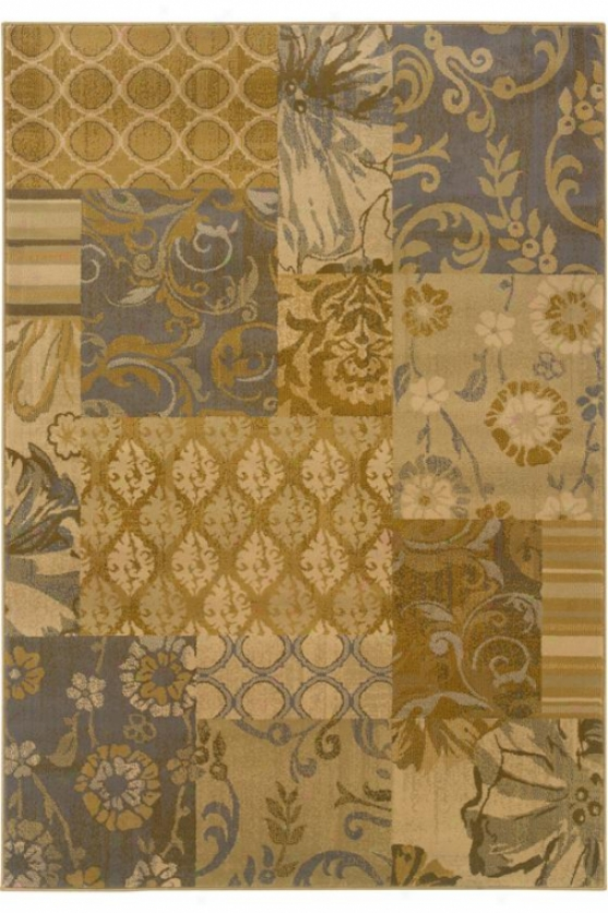 """bazaar Area Rug - 5'3""""x7'6"""""", Gray/gold"""