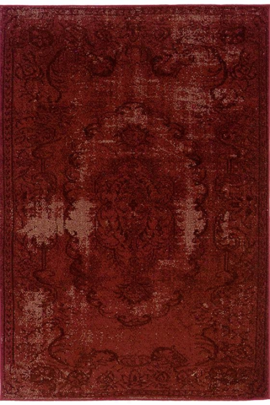 """belize Area Rug - 9'10""""x12'10"""", Red"""