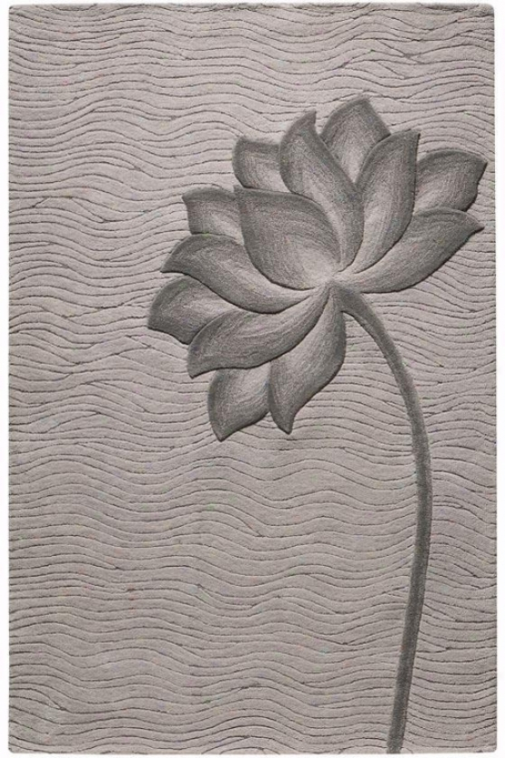 """bloom Rug - 3'6""""x5'6"""", Gray"""
