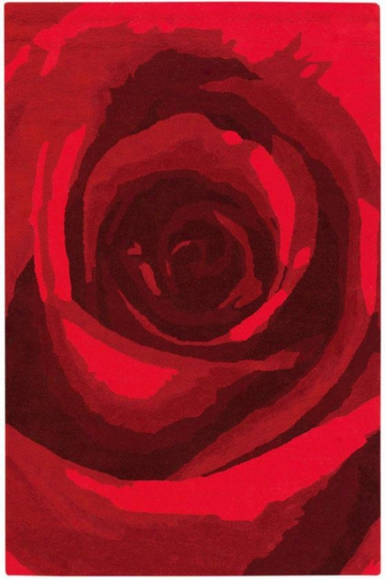 """Flower Rug I - 2'9""""x14' Runner, Red"""