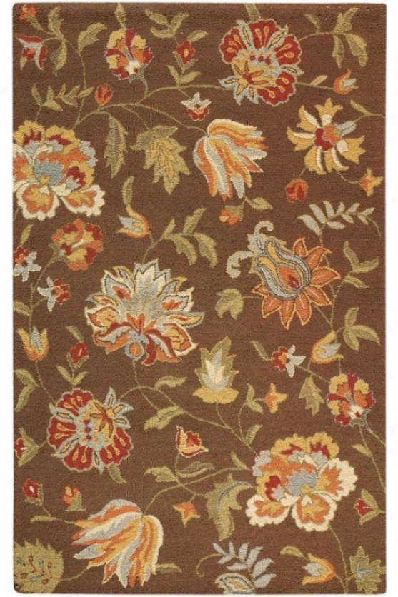 """botanicals Rug - 5'3""""x8'3"""", Brown"""