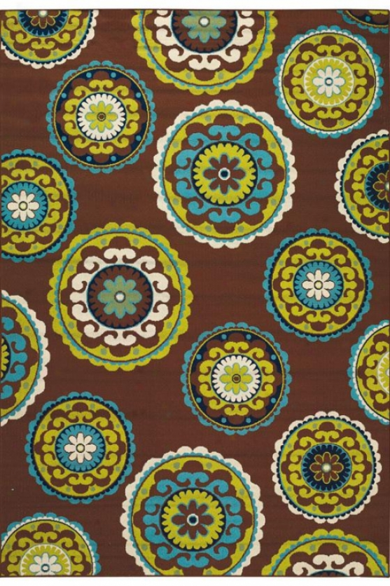 """cabana Area Rug I - 2'5""""x4'5"""", Brown"""