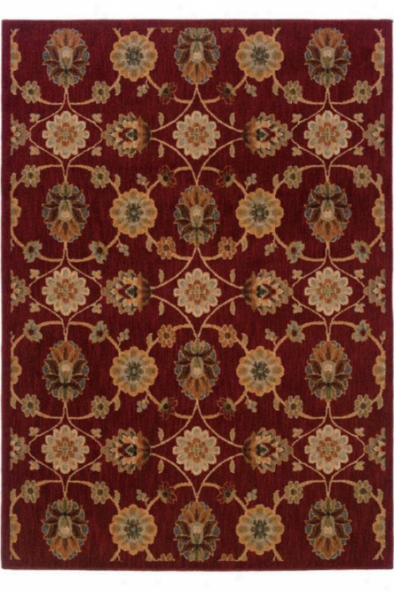 """cache Area Rug - 9'10""""x12'9"""", Red"""
