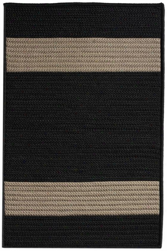Cafe Milano Area Rug - 5'square, Black