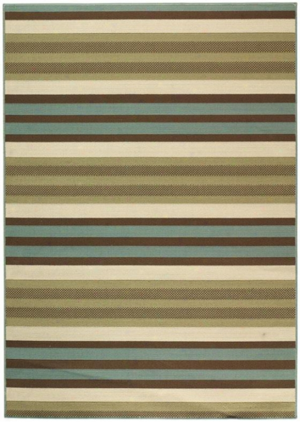 """candy Stripe All-weather Area Rug - 2'3""""x7'6"""", Green"""