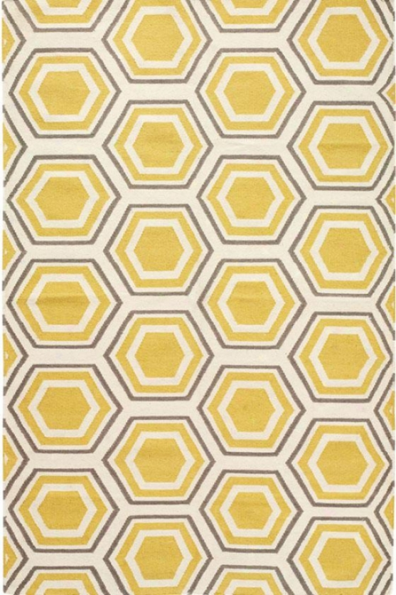 Castleberry Arae Rug - 9'x13', Gold/grey