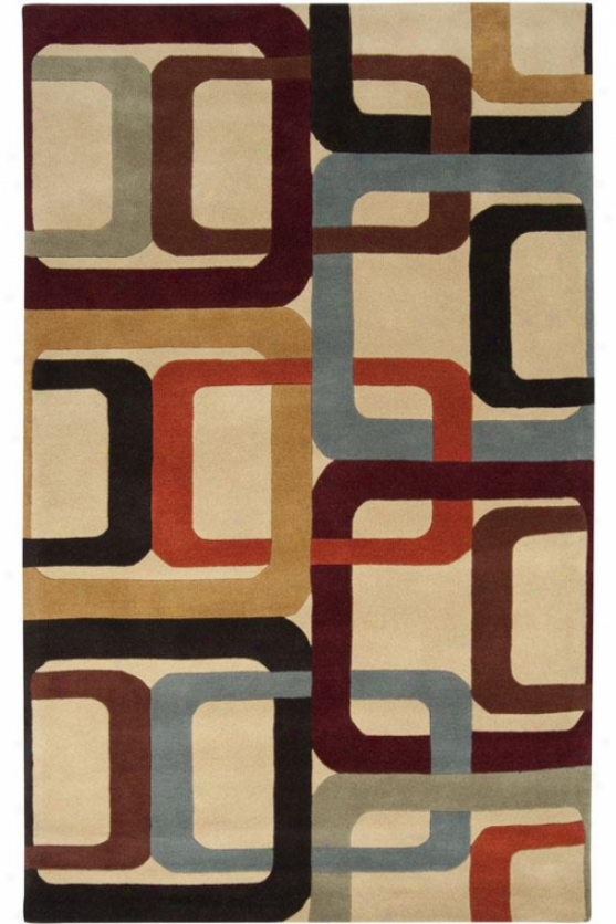 Chains Superficial contents Rug - 3'x12' Runner, Beige