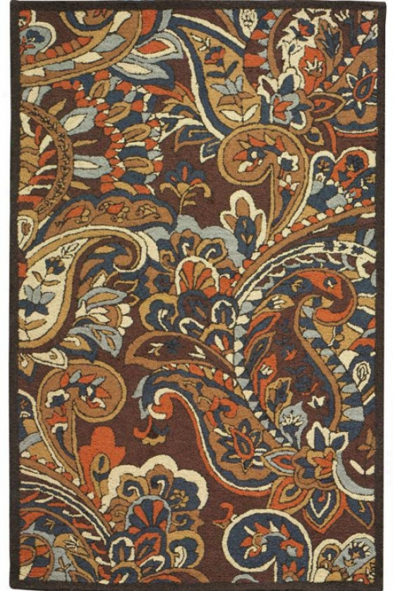 """charlemagne Ii Area Rug - 5'2""""x8'3"""", Brown"""
