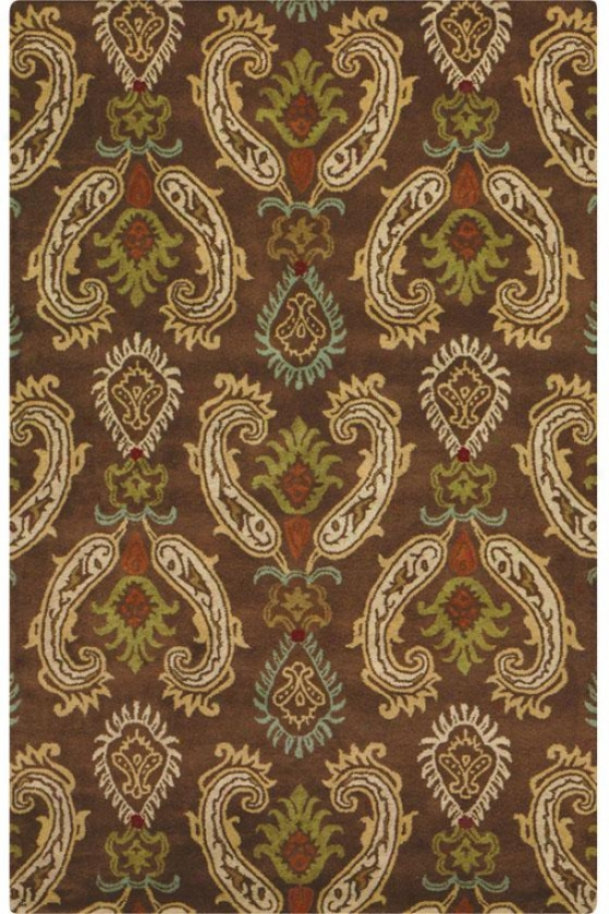 Charlton Area Rug - 5' Round, Brown