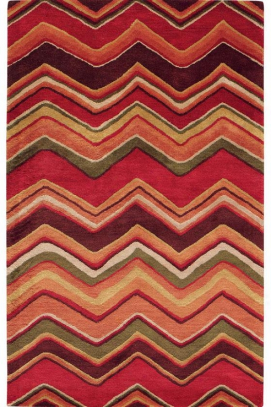 """chevron Area Rug - 2'6""""x10' Runner, Red"""