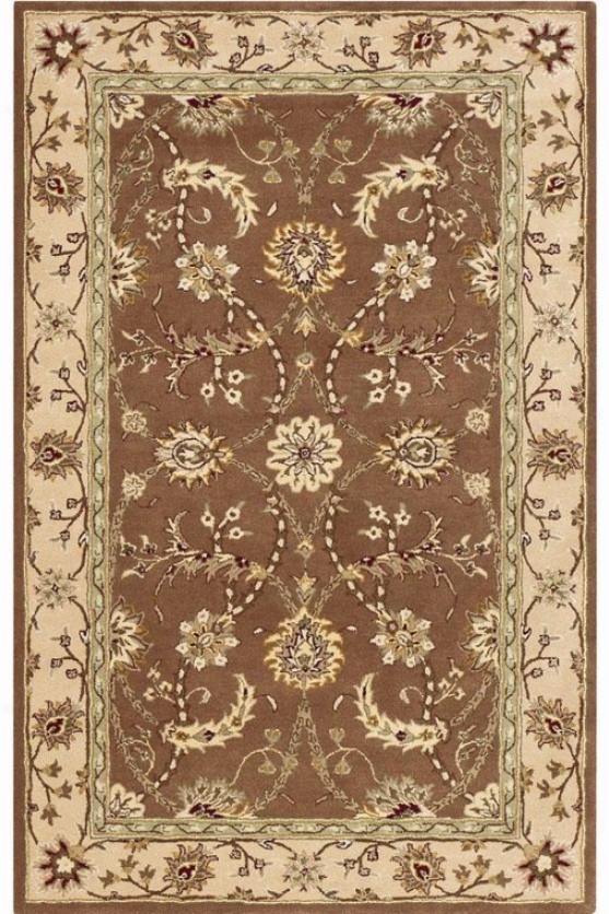 """collins Area Rug - 2'3""""x8""""runner, Brown"""