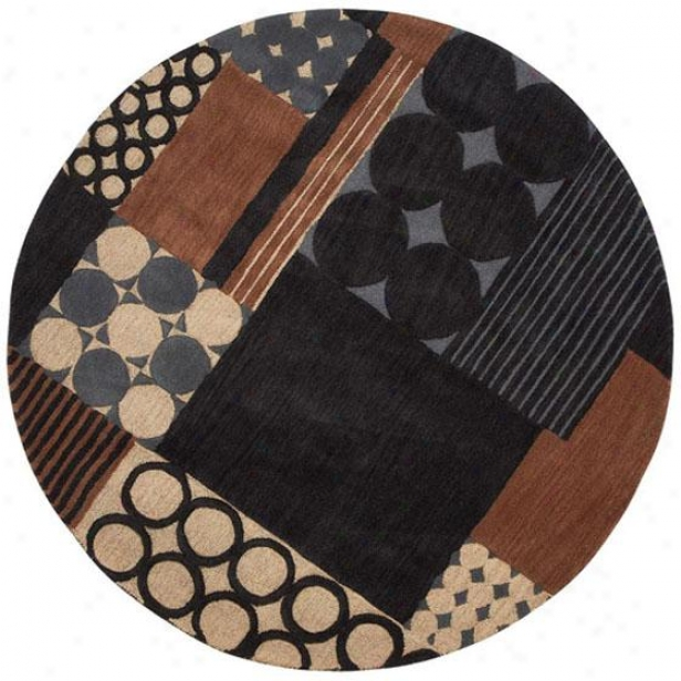 """complex Arew Rug - 5'9"""" Move about, Blue"""