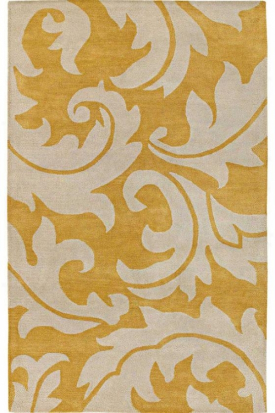 """contessa Area Rug - 5'3""""x8', Yellow"""