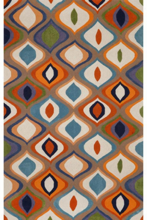Contour Area Rug Ii - 2x3, Orange