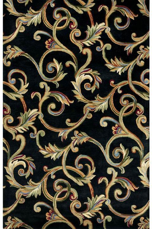 """corinth Area Rug - 5'3""""x8'3"""", Black"""