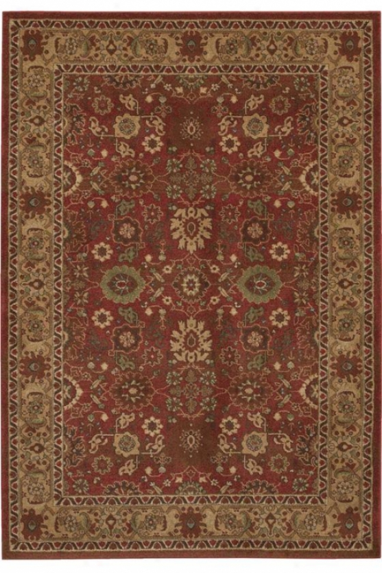 """couristan Bijar Area Rug - 2'2""""x4'2"""", Crimson Red"""