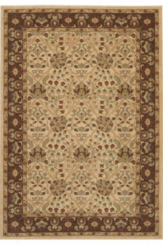 """couristan Birjand Area Rug - 7'10""""x11'2"""", Chocolate Brown"""