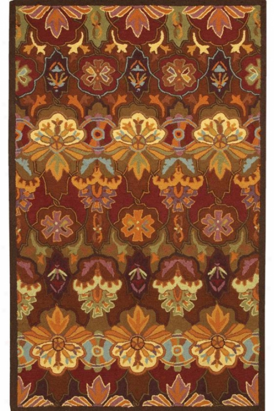 """couristan Orange Blossom Area Rug - 2'6""""x8'6""""runner, Multi"""