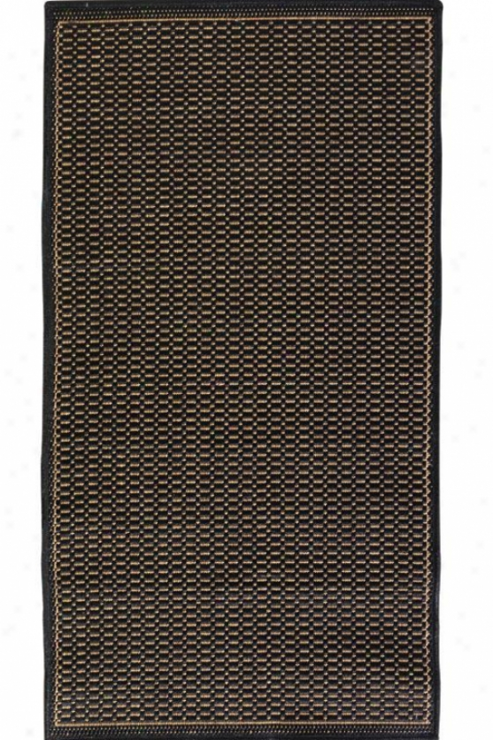 """couristan Saddlestitch All-weather Area Rug - 8'6"""" Square, Black"""