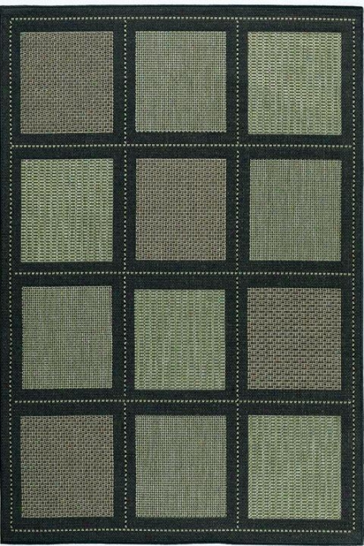 """couristan Summit All-weather Area Rug - 3'9""""x5'5"""", Green"""