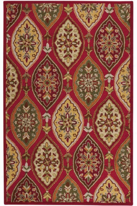 """coventry Area Rug I - 5'3""""x8'3"""",-Red"""
