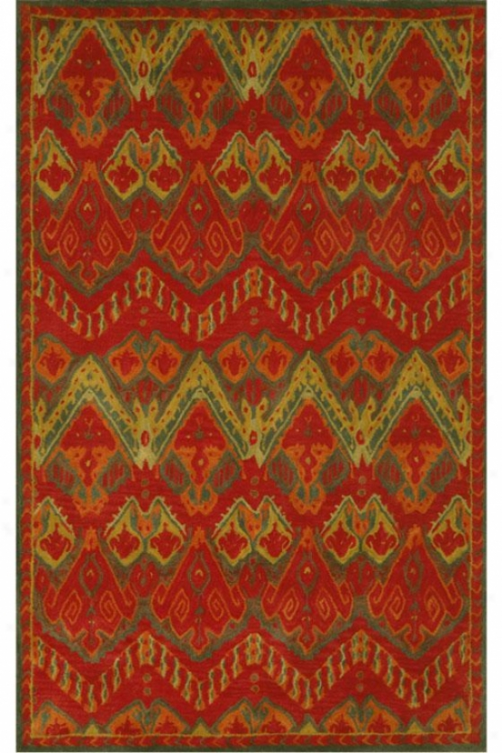 """""""crystal Area Rug - 2'7""""""""x8' Runner, Red"""""""