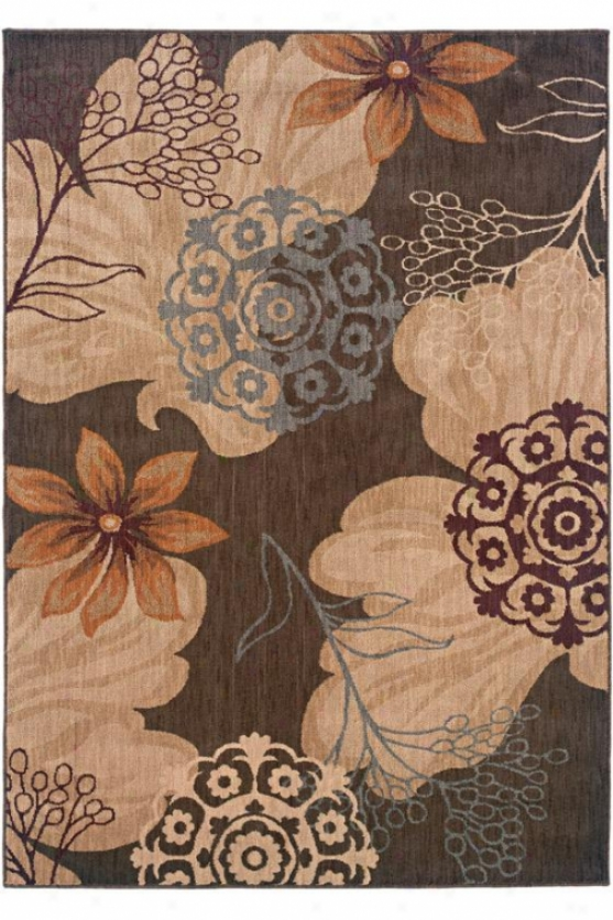 """crystal Aeea Rug I - 1'11""""x3'3"""", Brown"""
