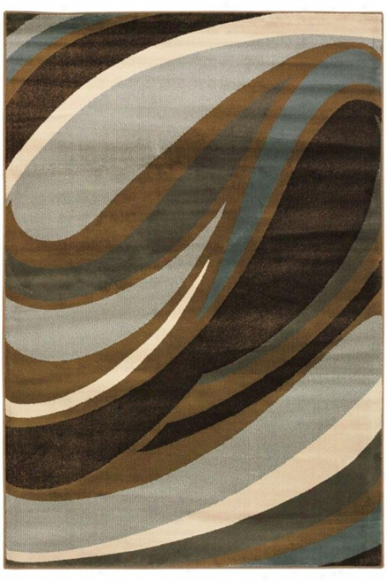 """Bend Area Rug - 7'8""""x10'10"""", Blue"""