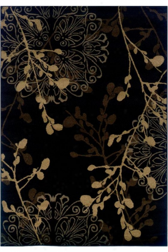 """dappled Area Rug - 1'11""""x7'6"""", Black"""