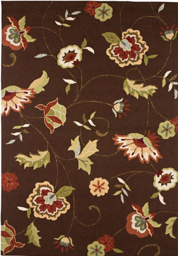"""delightful Area Rug - 3'6""""x5'6"""", Chocolate Brown"""